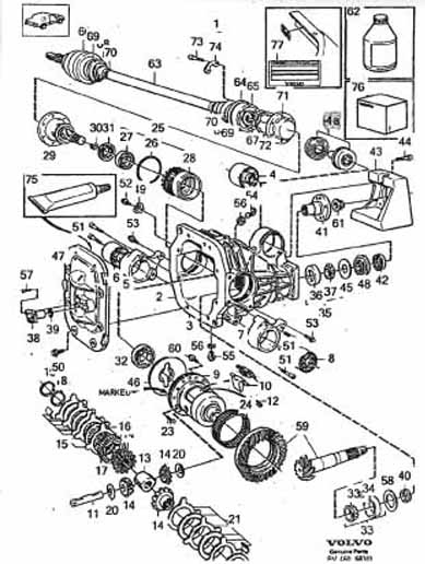 volvo 850 parts diagram