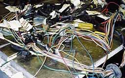 Wiring Loom nicely labelled (photo Tim Curry)